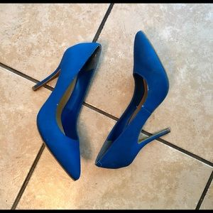 Shoes - JustFab cobalt Lizette heels